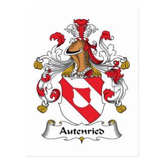 Escudo de la familia de Autenried Tarjetas Postales