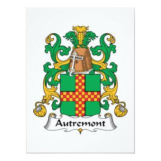"""Escudo de la familia de Autremont Invitación 6.5"""" X 8.75"""""""