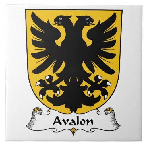 Escudo de la familia de Avalon Azulejo