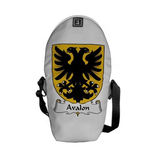 Escudo de la familia de Avalon Bolsas De Mensajeria
