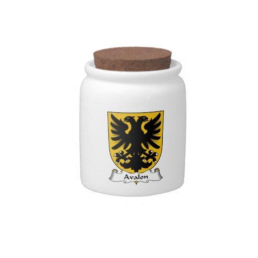Escudo de la familia de Avalon Platos Para Caramelos