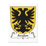 Escudo de la familia de Avalon Lona Envuelta Para Galerias