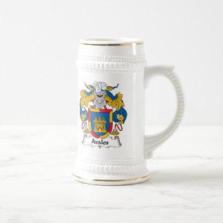 Escudo de la familia de Avalos Jarra De Cerveza