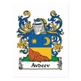 Escudo de la familia de Avdeev Tarjetas Postales