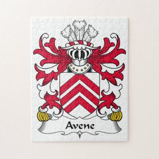 Escudo de la familia de Avene Rompecabezas