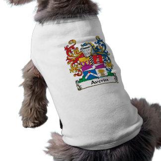 Escudo de la familia de Averin Playera Sin Mangas Para Perro