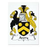 Escudo de la familia de Avery Comunicado Personalizado