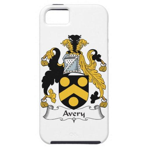 Escudo de la familia de Avery iPhone 5 Carcasa