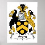 Escudo de la familia de Avery Poster