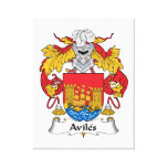 Escudo de la familia de Avilés Impresión En Lona Estirada