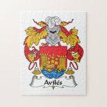 Escudo de la familia de Avilés Puzzles