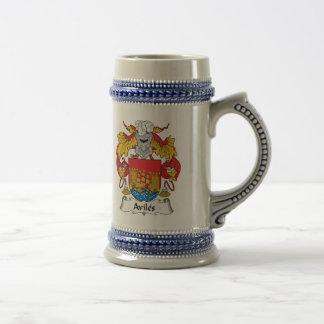 Escudo de la familia de Avilés Tazas De Café