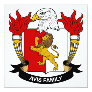 Escudo de la familia de Avis Comunicado Personalizado