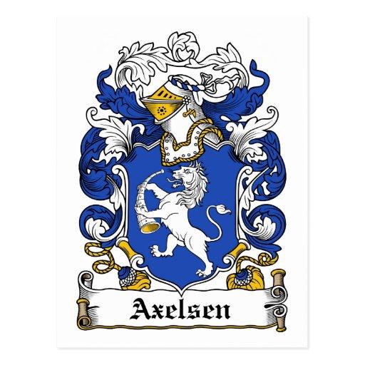Escudo de la familia de Axelsen Postal