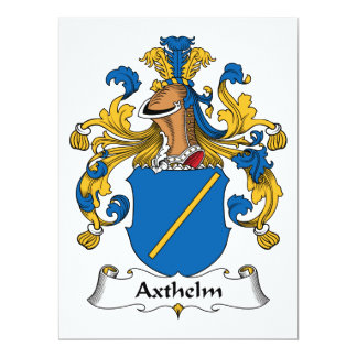 """Escudo de la familia de Axthelm Invitación 6.5"""" X 8.75"""""""