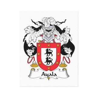 Escudo de la familia de Ayala Impresión En Lienzo Estirada