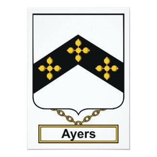 Escudo de la familia de Ayers Invitación