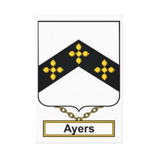 Escudo de la familia de Ayers Lona Envuelta Para Galerías