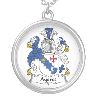Escudo de la familia de Ayerst Colgante Redondo