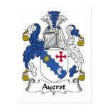 Escudo de la familia de Ayerst Postal