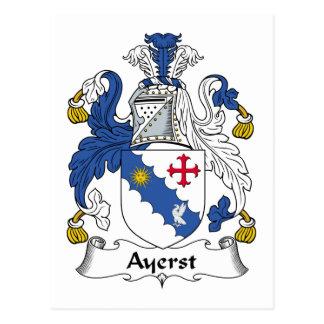 Escudo de la familia de Ayerst Postales