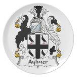 Escudo de la familia de Aylmer Plato De Comida