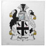Escudo de la familia de Aylmer Servilleta Imprimida