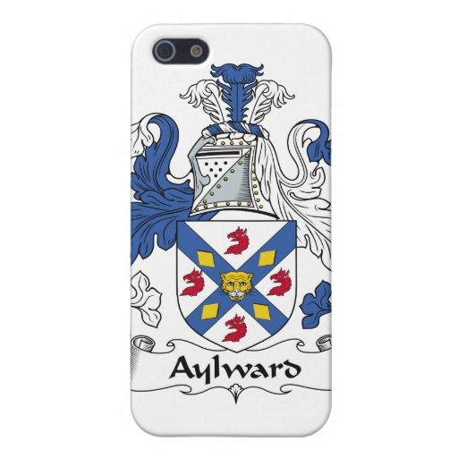 Escudo de la familia de Aylward iPhone 5 Cárcasas