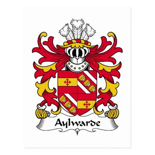 Escudo de la familia de Aylwarde Postal