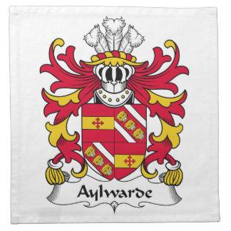 Escudo de la familia de Aylwarde Servilletas