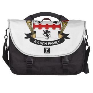 Escudo de la familia de Aylwin Bolsa De Ordenador