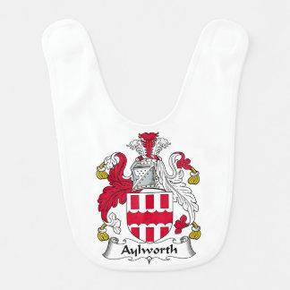 Escudo de la familia de Aylworth Babero De Bebé