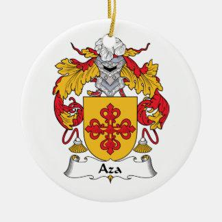 Escudo de la familia de Aza Adornos De Navidad