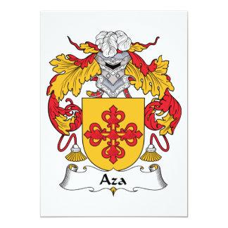 Escudo de la familia de Aza Invitación 12,7 X 17,8 Cm
