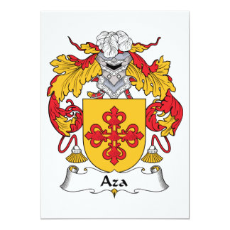 """Escudo de la familia de Aza Invitación 5"""" X 7"""""""