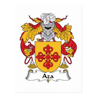 Escudo de la familia de Aza Postal