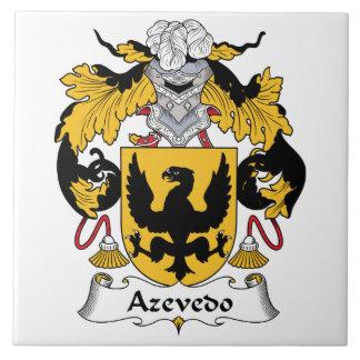 Escudo de la familia de Azevedo Azulejo Cuadrado Grande