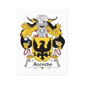 Escudo de la familia de Azevedo Impresión En Lona Estirada
