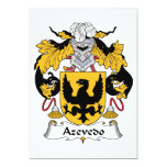 Escudo de la familia de Azevedo Invitación Personalizada