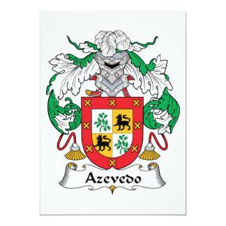 """Escudo de la familia de Azevedo Invitación 5"""" X 7"""""""