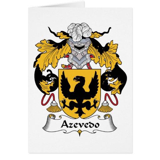 Escudo de la familia de Azevedo Tarjeta De Felicitación