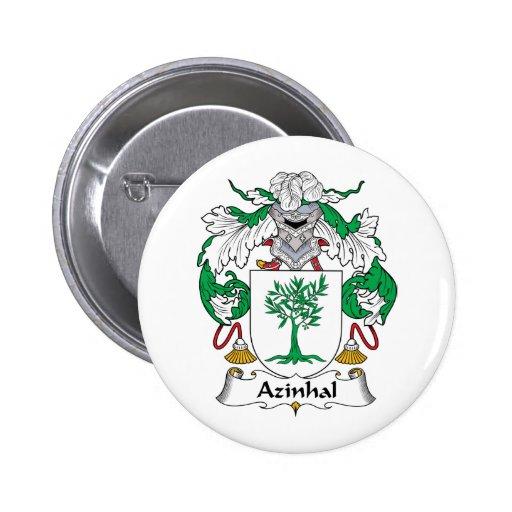 Escudo de la familia de Azinhal Pin Redondo 5 Cm