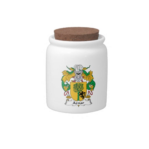 Escudo de la familia de Aznar Platos Para Caramelos
