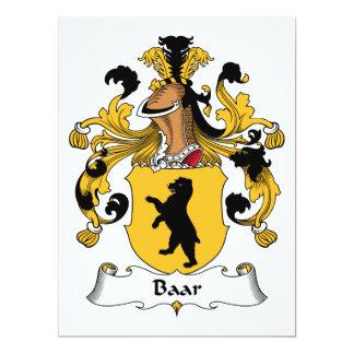 """Escudo de la familia de Baar Invitación 6.5"""" X 8.75"""""""