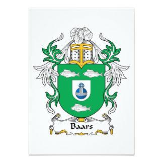 """Escudo de la familia de Baars Invitación 5"""" X 7"""""""