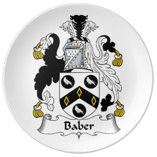 Escudo de la familia de Baber Plato De Cerámica