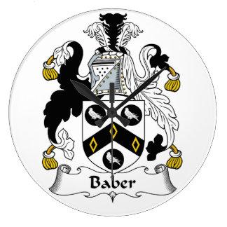 Escudo de la familia de Baber Reloj Redondo Grande