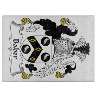 Escudo de la familia de Baber Tabla De Cortar