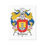 Escudo de la familia de Babiano Impresión De Lienzo