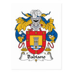 Escudo de la familia de Babiano Postales